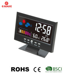 Prévisions météo écran couleur tendance de température de l'humidité de l'horloge Réveil
