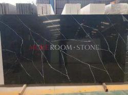 Größte ausgeführte schwarze Quarz-Steincountertop-Platte für Verkauf