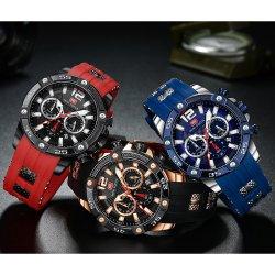 مصغّرة بؤرة حارّ عمليّة بيع [هيغقوليتي] رفاهية جديدة نمو تصميم رجال ساعة سبيكة ساعة مع سليكوون شريط