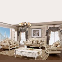 أريكة أثاث لازم مصنع بيع بالجملة كلاسيكيّة بناء أريكة مع جانب طاولة