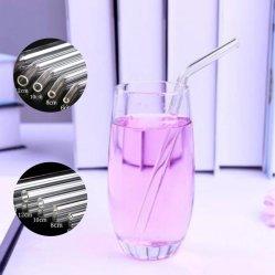 再使用可能なEco友好的なBPAはクリーニングブラシが付いている/Bentのまっすぐなガラス飲むわらを放す