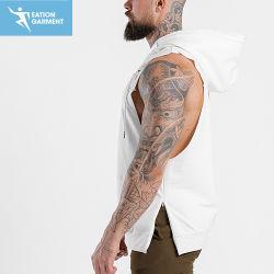 Débardeur en coton Premium détendu Mettre en place une salle de gym Hoodie avec poche kangourou