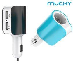 3in1 verdoppeln USB-Auto-Aufladeeinheit mit einem Zigaretten-Feuerzeug
