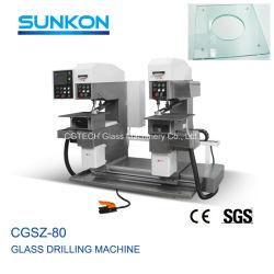 높은 신뢰도 PLC 스크린 자동적인 유리제 두 배 조파기 드릴링 기계