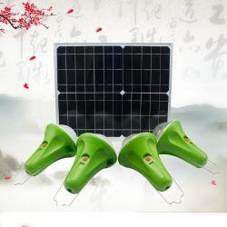 Sistema de iluminación de la energía solar portátil de juegos para el hogar con altavoces de música Blue Tooth Sistemas Solares 2 en 1