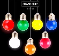 Lampadina giallo arancione rossa bianca variopinta di colore di colore rosa G45 0.5W 1W E27 LED di verde blu