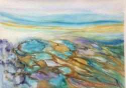 壁の装飾のためのハンドメイドの水彩画の景色の油絵