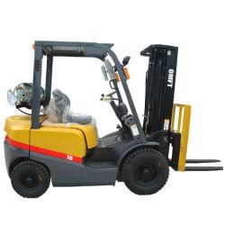 بنزين الإطار غير المتوازن المزوَّد بوسادة بوزن 1,5 طن والوقود المزدوج الذي يعمل بغاز البترول المسال (LPG) تقنية TCM لشاحنة رافعة شوكية مع CE ISO