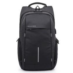 Mochila masculina pano de saco para computador portátil de Oxford Anti-Theft Mochila Tampões de USB