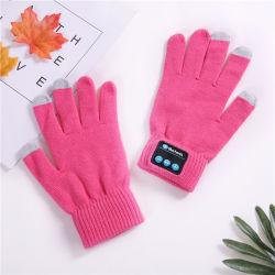 De beste Draadloze Handschoen van de Wol van de Winter van de Telefoon van het Scherm van de Aanraking van de Manier van de Winter Dubbele St3 met Spreker