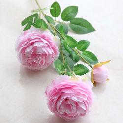 Fiore diretto di cerimonia nuziale del Peony della seta artificiale della fabbrica/fiore reale della seta di tocco
