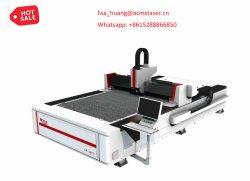 Preiswerter meistgekaufter Qualitäts-Werbebranche-Gebrauch-einzelnes Plattform CNC-Metallblatt-Faser-Laser-Ausschnitt-Gerät für Verkauf
