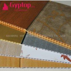PVC壁パネル木PVC天井のプラスチック壁Panellingの室内装飾