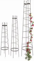 Obelisco de metal para flores de la planta enrejado de alambre de hierro del bastidor de escalada