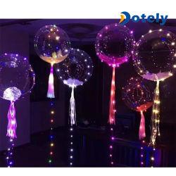 Ballon van het Helium van Bobo Ball Inflatable LED Lights van de bal de Plastic