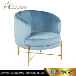 Stilvoller Zylinder-Stuhl mit Edelstahl-Unterseite