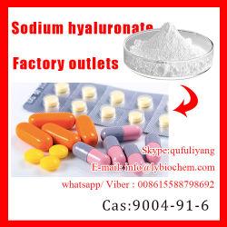Aprovisionamento de fábrica de ácido hialurônico / hialuronato de sódio, com a ISO HACCP. Grau de cosméticos, Grau Alimentício, colírio grau, grau de injecção