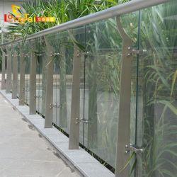 商業建物のバルコニーの単一のパネルのステンレス鋼の柵のためのガラス手すり