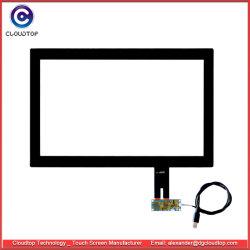 18.5 pollici hanno proiettato il comitato capacitivo dello schermo attivabile al tatto (sensore di tocco legato sul vetro di coperchio, sul 16:9, sull'interfaccia del USB, CT-C8155)