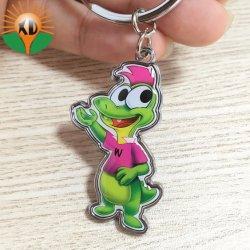 Métal bon marché de gros de chaîne de clés personnalisé avec anneau pour clés