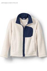 تُربط الياقة المرتفعة للأطفال، مقص من قماش Fleece، حتى اليسار صحيح جيب عارضة الشتاء مكافحة النهب المنظم قطع تخصيص الفتيات الصبيان سترة خارجية ذات سترة