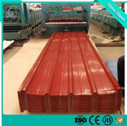 ورقة سقف مطلية مسبقًا باللون PPGI من الفولاذ المطلية بالفولاذ المحلفن
