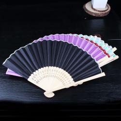 Marken-Sommer-Förderung-faltender Ventilator-Geschenk-beweglicher Bambusventilator kundenspezifischer Drucken-faltender Markierungs-Bambushandventilator