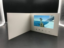 A fábrica 5 polegadas LCD Video Convite Card 4.3'' Brochura Vídeo Blank Livro Branco