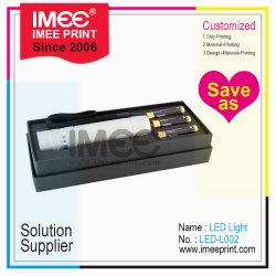 LEIDENE van het Flitslicht van het Materiaal van het Metaal van de Batterij van de Doos van de Gift van de Douane van de Druk van Imee Openlucht Acryl Plastic Elektronische Elektrische Lichte Toorts