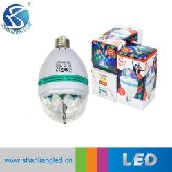 水晶魔法の球LEDの段階ランプの声制御LED 6カラー段階B22 LEDの球根