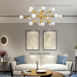 De moderne Gouden Lamp van de Kroonluchter van het Glas van de Lamp van de Tegenhanger van het Glas