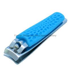 Les produits de beauté de la poignée en silicone colorées pour cadeau promotionnel ciseaux à ongles & tondeuses pour doigt (608R-2)