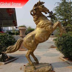 屋外のカスタマイズされた庭の装飾の大きい青銅色の馬の彫刻(GSBR-501)