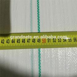 PPのプラスチック原料のWeedのマットの構築のための白いPPによって編まれる雑草防除ファブリック