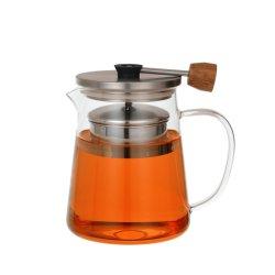 POT di vetro termoresistente del tè con il contenitore di setaccio del tè