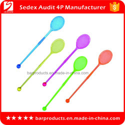Food Grade Plastic Cocktail Drinking Stirrer with Customized Logo (英語
