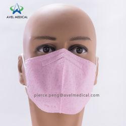 Rosa gefaltete schützende Atemschutzmaske mit Cer-Bescheinigung