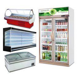 -5 degré Commercial Open Type réfrigérateur pour le supermarché d'affichage du poisson