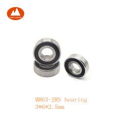3X6X 2,5 mm Mr63 L630 617/3 673 3m06 2RS du roulement à billes miniatures pour le matériel de bureau micro Instrument du ventilateur du moteur Modèle jouets petite horloge Perceuse dentaire