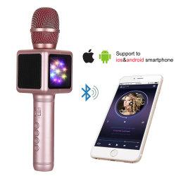 De magische Draadloze Microfoon van de Speler van de Karaoke met LEIDEN Licht steunt Al Apparaat USB