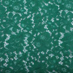 Tessuto multicolore del merletto del ciglio del filo del cotone di nylon ad alta densità del fiore