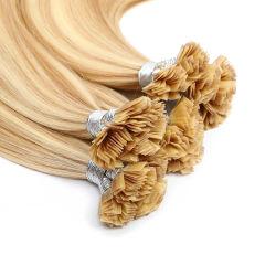 La trama de la piel de punta plana de la Federación Europea de la India Remy Virgen Hair Extension Venta caliente pelo Brasil