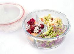 Preparación de Comidas de diferentes capacidades recipiente de vidrio