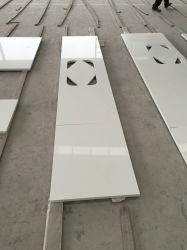 Het zuivere Witte Kwarts van de Plak voor Countertop van de Keuken