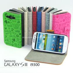 Мультфильм Magic girl кожаные переверните крышку картера для Samsung Galaxy S3 Siii I9300