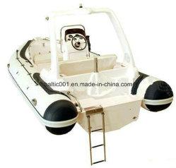 Control remoto de fibra de vidrio de pesca barco Rib 580 CE