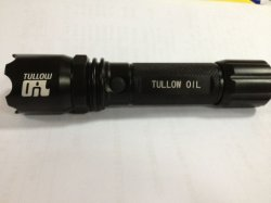 Tullow 기름 로고 Laser에 의하여 새겨지는 강력한 Maglite LED 토치