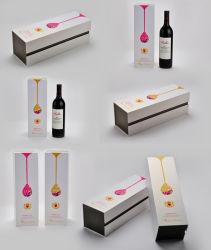 Boîte de vin avec sac de papier / boîtes de papier coloré des emballages de vin