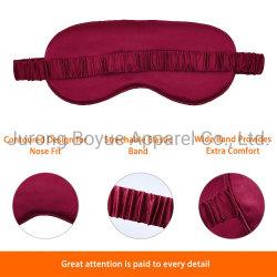Mascherina di occhio di seta di sonno dell'OEM di Mnufacturer della mascherina della macchia su ordinazione promozionale delicatamente leggera di marchio