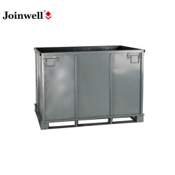 Plegado de almacenamiento de la caja de metal / contenedor para el transporte de material de resina (1500L)